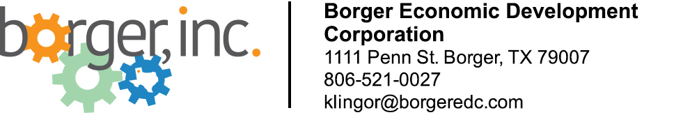 The Borger Economic Development Corporation | 1111 Penn St. Borger, TX 79007 | 806-521-0027
